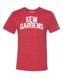 Red Kew Gardens T-shirt with White Reflective Letters