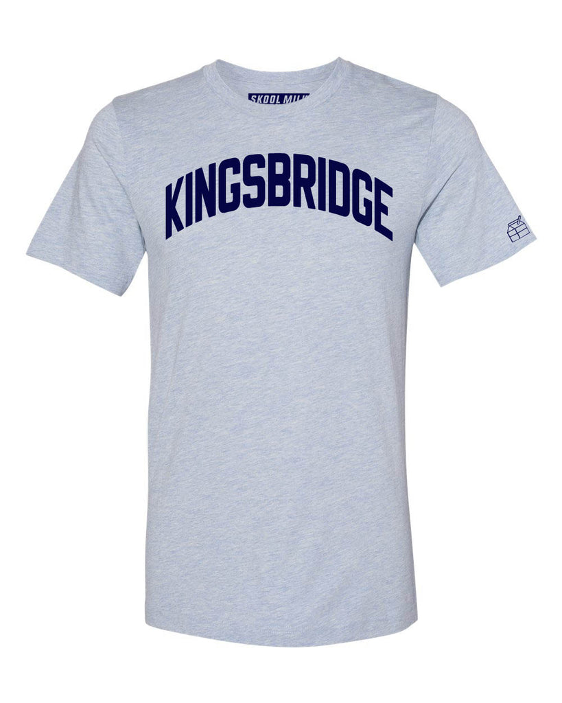 Sky Blue Kingsbridge Bronx T-Shirt with Blue Letters