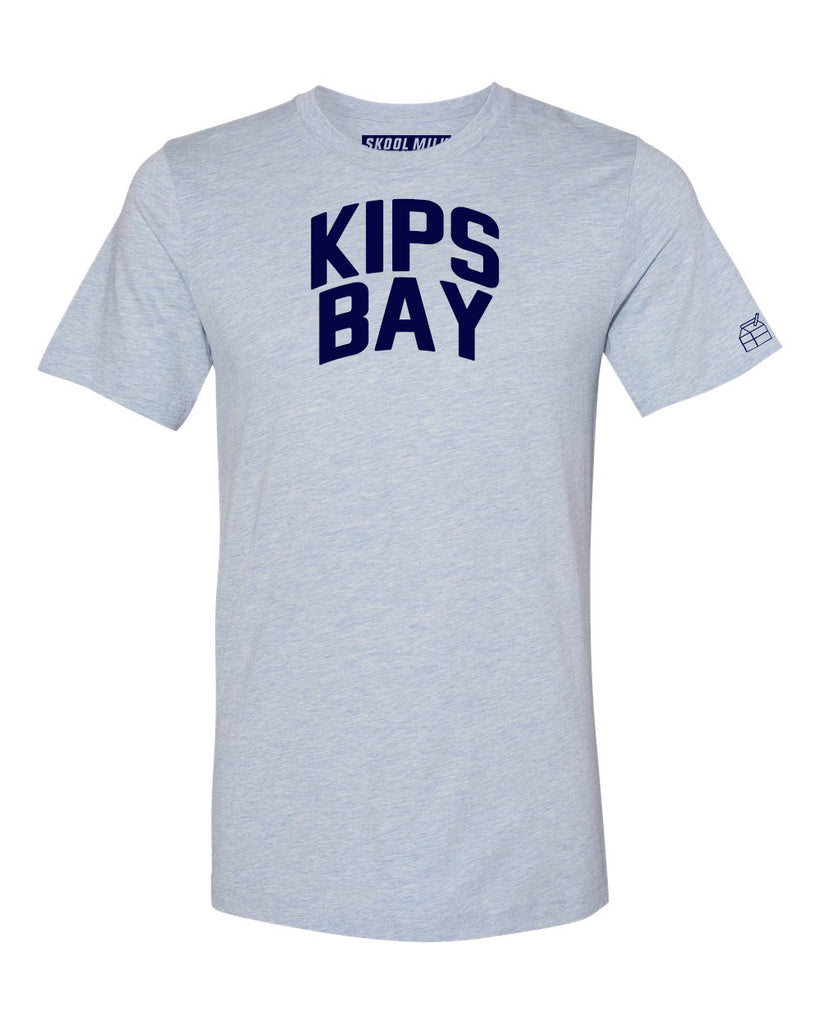 Sky Blue Kips Bay T-shirt with Blue Letters