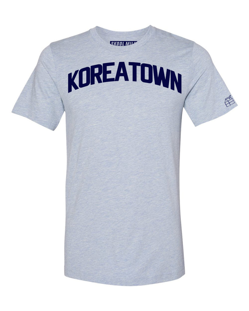 Sky Blue Koreatown T-shirt with Blue Letters
