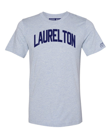 Sky Blue Laurelton T-shirt with Blue Letters