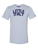 Sky Blue Little Italy T-shirt with Blue Letters