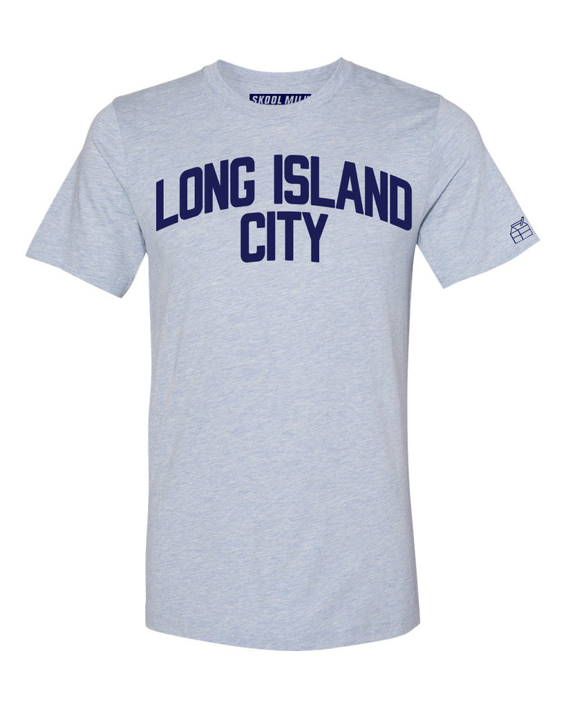 Sky Blue Long Island City T-shirt with Blue Letters