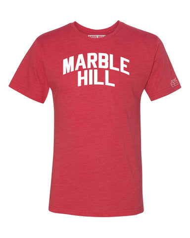 Red Marble Hill  T-shirt with White Reflective Letters