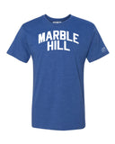 Blue Marble Hill  T-shirt with White Reflective Letters