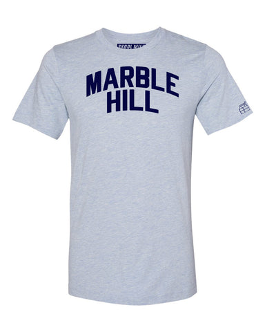 Sky Blue Marble Hill T-shirt with Blue Letters