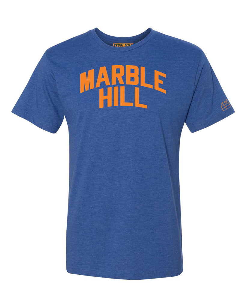 Blue Marble Hill  T-shirt with Knicks Orange Letters
