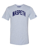 Sky Blue Maspeth T-shirt with Blue Letters