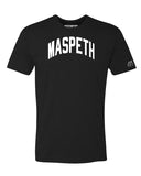 Black Maspeth T-shirt with White Reflective Letters