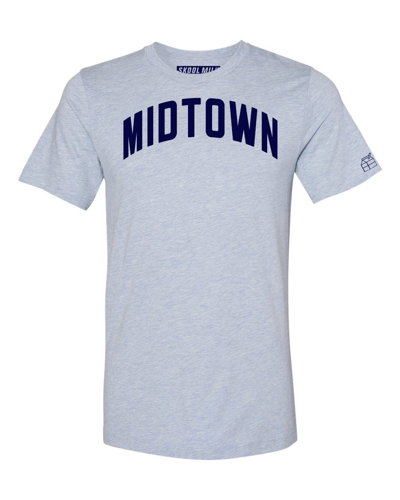 Sky Blue Midtown T-shirt with Blue Letters