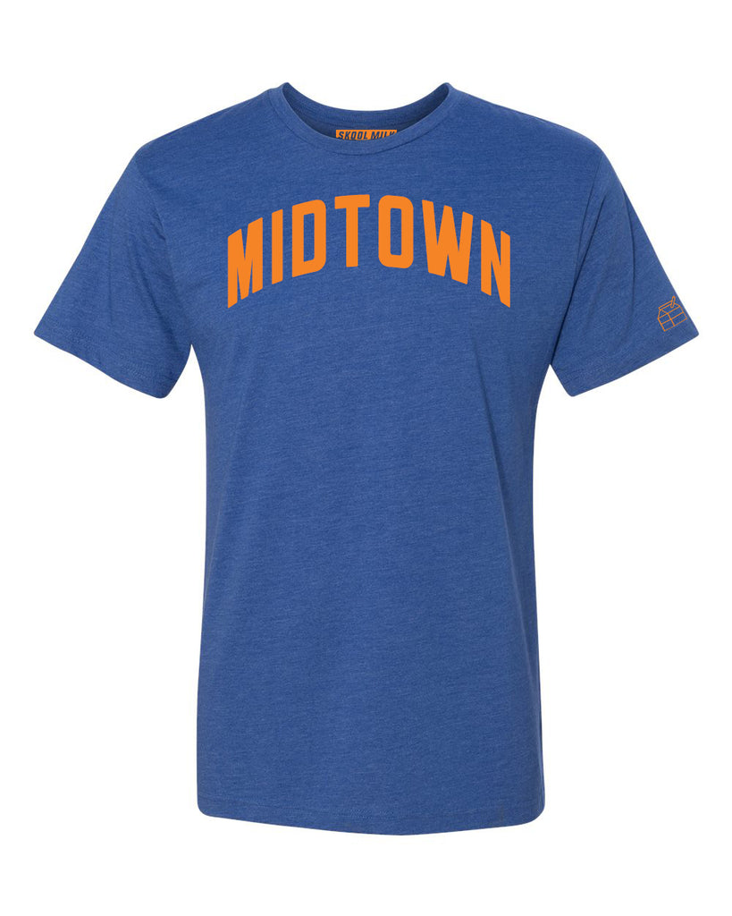 Blue Midtown T-shirt with Knicks Orange Letters
