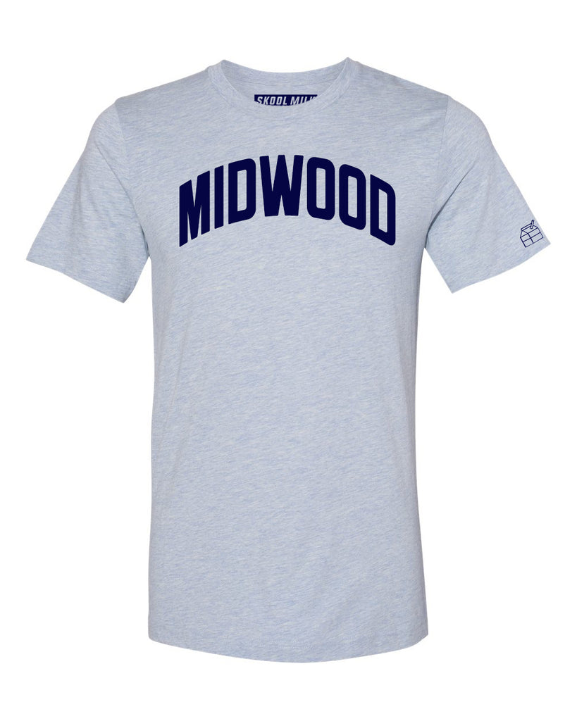 Sky Blue Midwood T-shirt with Blue Letters