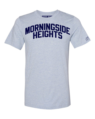 Sky Blue Morningside Heights T-shirt with Blue Letters