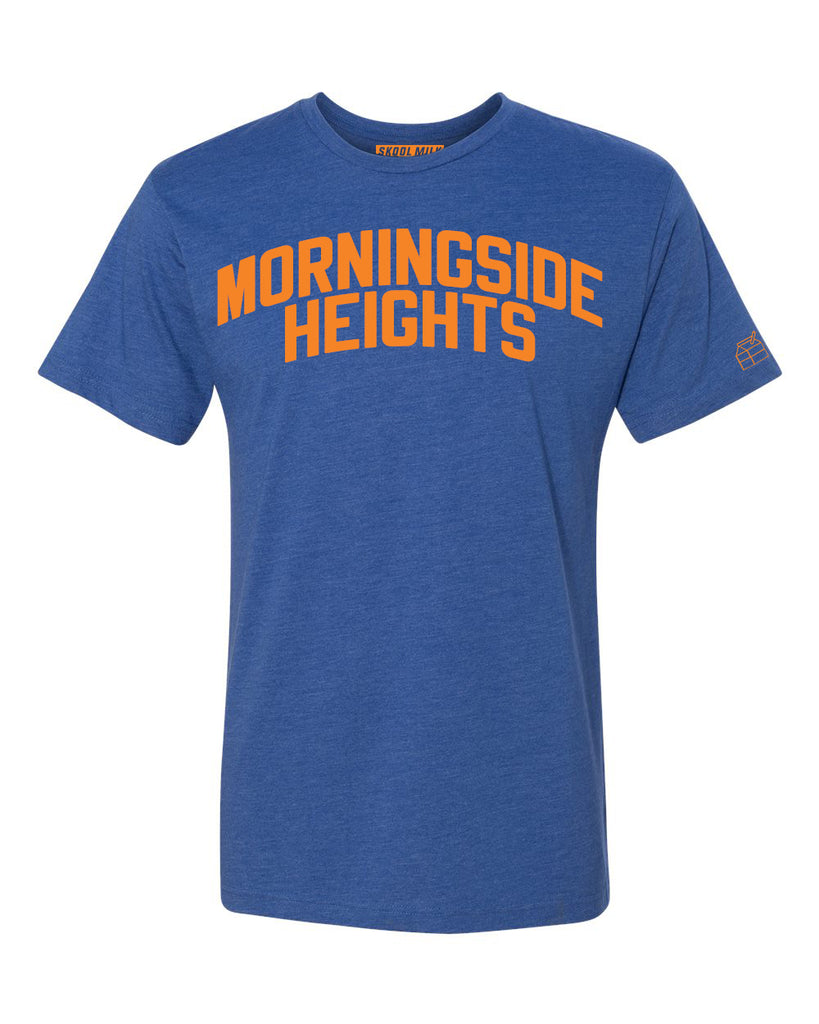 Blue Morningside Heights T-shirt with Knicks Orange Letters