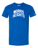 Blue Morris Heights Heights T-shirt with White Reflective Letters