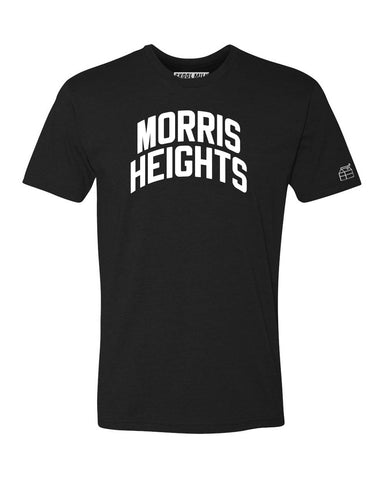 Black Morris Heights T-shirt with White Reflective Letters