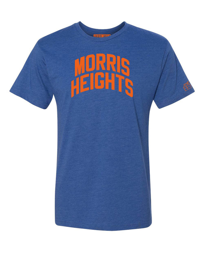 Blue Morris Heights T-shirt with Knicks Orange Letters