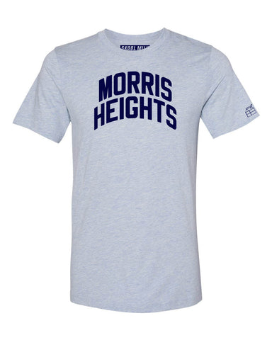 Sky Blue Morris Heights Bronx T-Shirt with Blue Letters