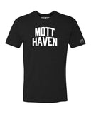 Black Mott Haven T-shirt with White Reflective Letters
