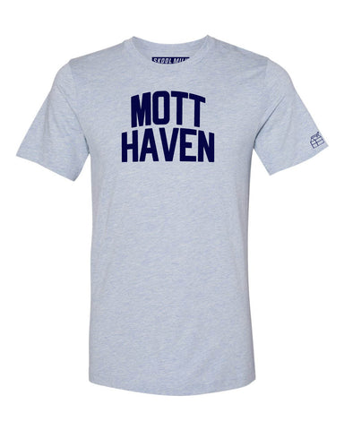 Sky Blue Mott Haven Bronx T-Shirt with Blue Letters