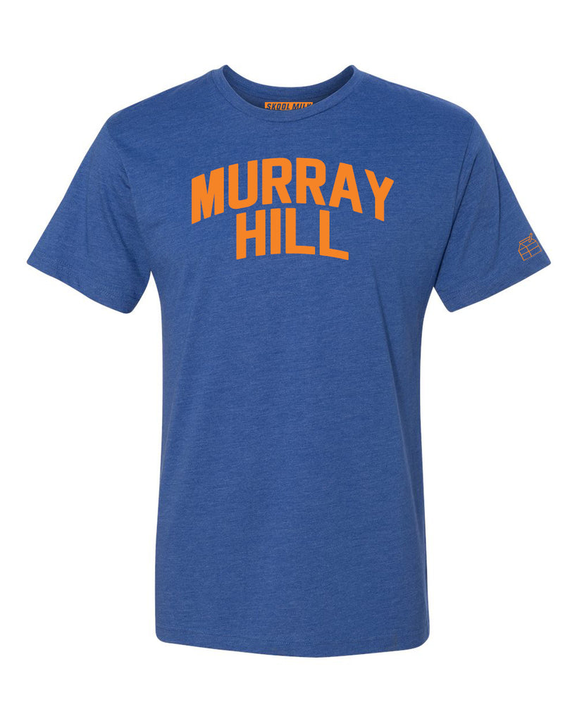 Blue Murray Hill T-shirt with Knicks Orange Letters