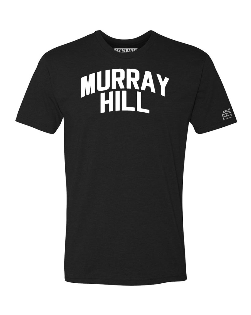 Black Murray Hill T-shirt with White Reflective Letters