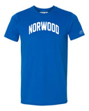 Blue Norwood T-shirt with White Reflective Letters
