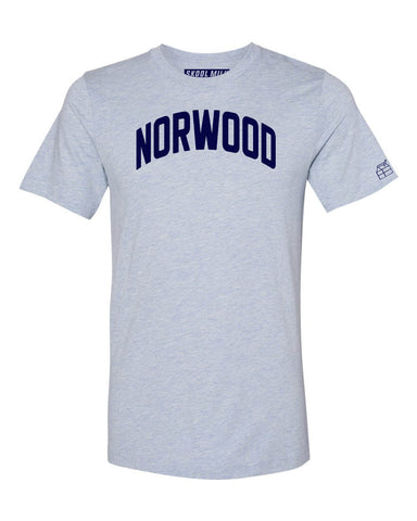 Sky Blue Norwood Bronx T-Shirt with Blue Letters