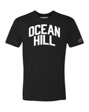 Black Ocean Hill T-shirt with White Reflective Letters