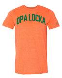 Orange Opa Locka Miami T-shirt w/ Green Reflective Letters