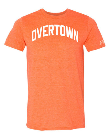 Orange Overtown Miami T-shirt w/ White Reflective Letters
