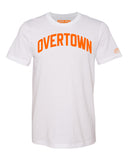White Overtown Miami T-shirt w/ Orange Reflective Letters