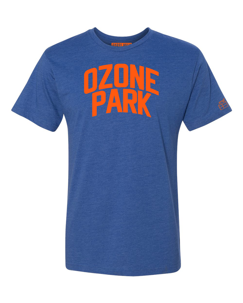 Blue Ozone Park T-shirt with Knicks Orange Letters