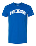 Blue Parkchester T-shirt with White Reflective Letters