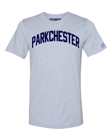 Sky Blue Parkchester Bronx T-Shirt with Blue Letters