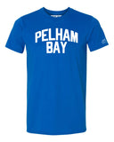 Blue Pelham Bay T-shirt with White Reflective Letters
