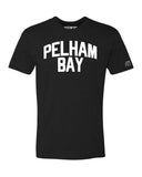 Black Pelham Bay T-shirt with White Reflective Letters