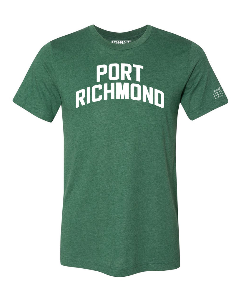 Green Port Richmond T-shirt with White Reflective Letters