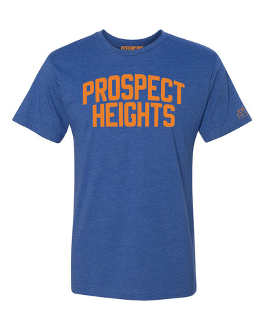 Blue Prospect Heights T-shirt with Knicks Orange Letters