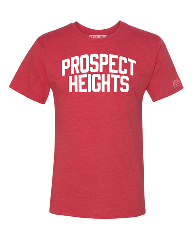Red Prospect Heights T-shirt with White Reflective Letters