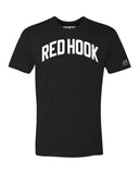Black Red Hook T-shirt with White Reflective Letters