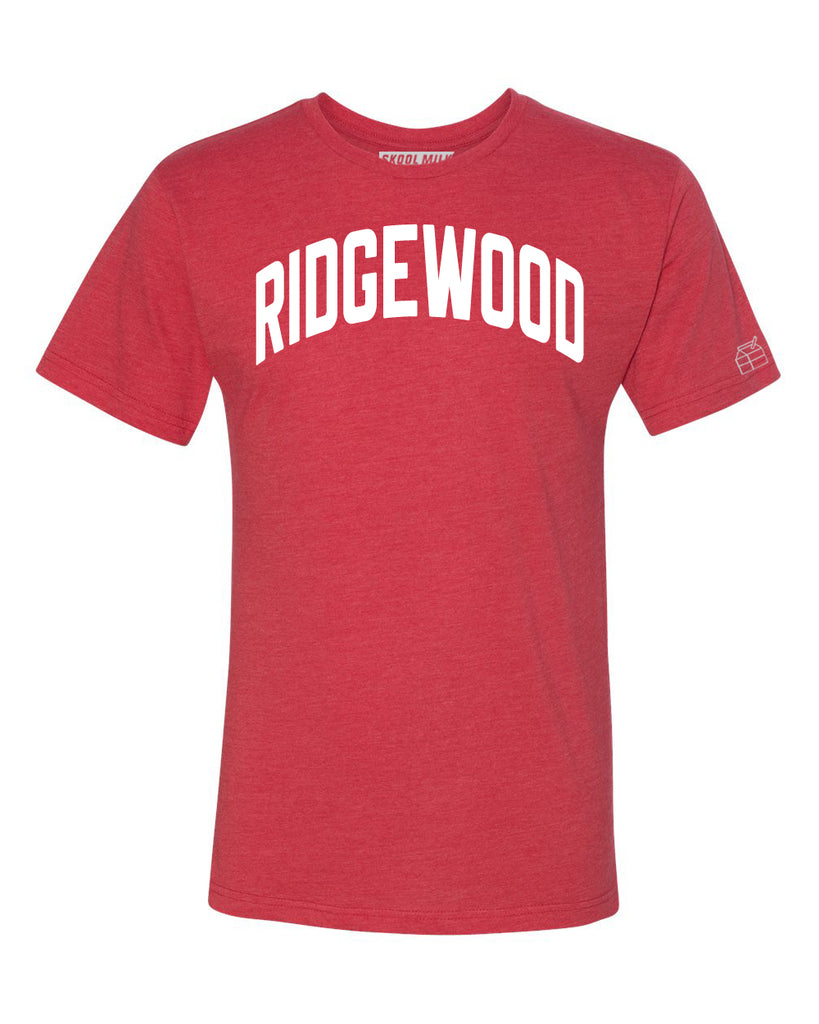 Red Ridgewood T-shirt with White Reflective Letters