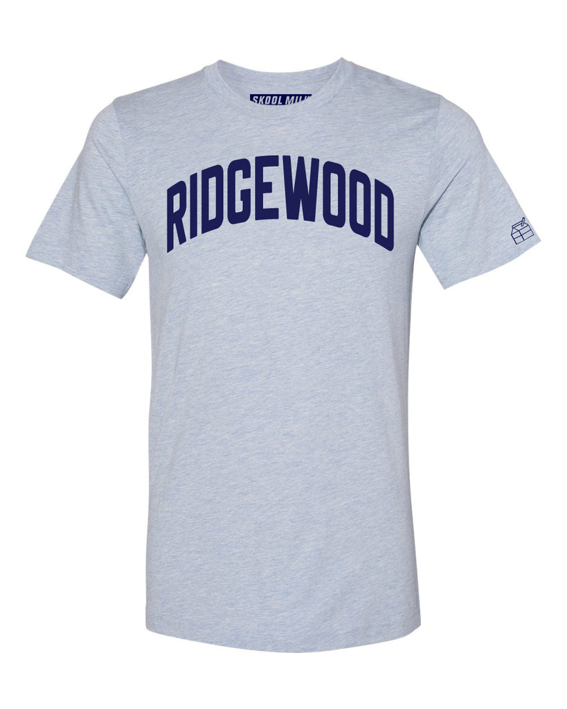 Sky Blue Ridgewood T-shirt with Blue Letters