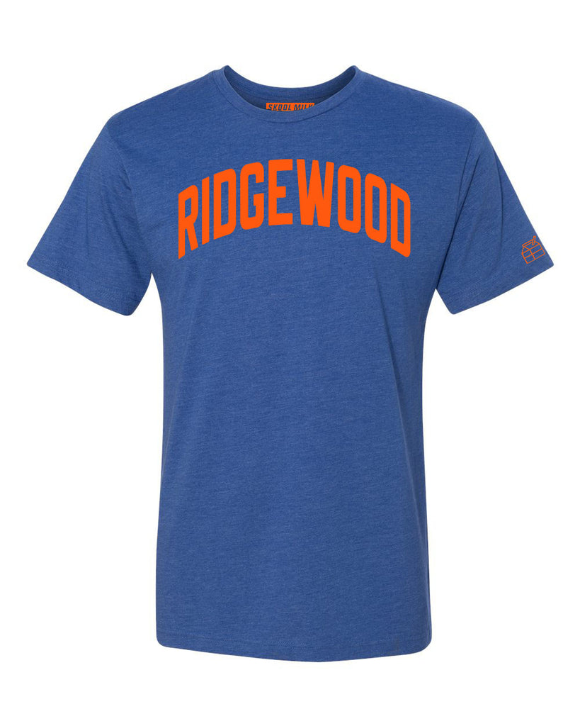 Blue Ridgewood T-shirt with Knicks Orange Letters