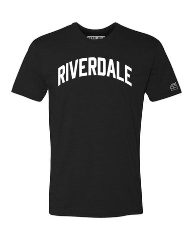 Black Riverdale T-shirt with White Reflective Letters