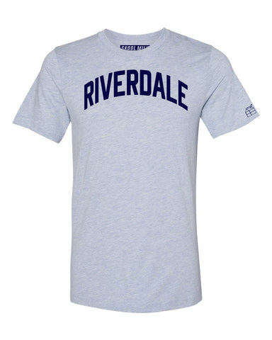 Sky Blue Riverdale Bronx T-Shirt with Blue Letters