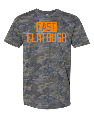 Camo East Flatbush T-Shirt With Reflective Letters