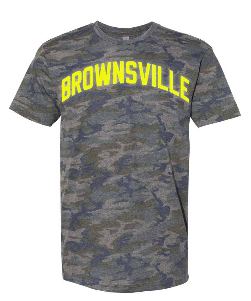 Camo Brownsville T-Shirt w/ Neon Reflective Letters