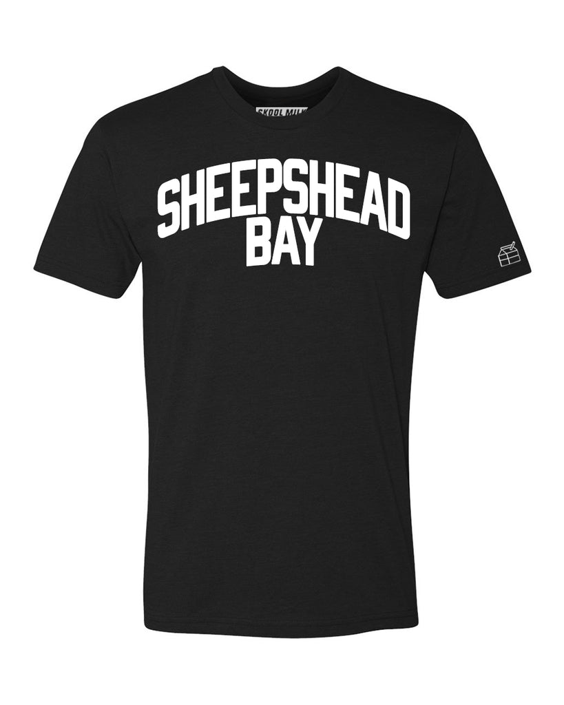 Black Sheepshead Bay T-shirt with White Reflective Letters