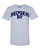 Sky Blue Sheepshead Bay T-shirt with Blue Letters